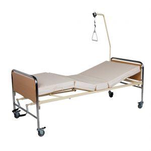 Νοσοσκομειακό κρεβάτι 2 μανιβέλες χρώμιο