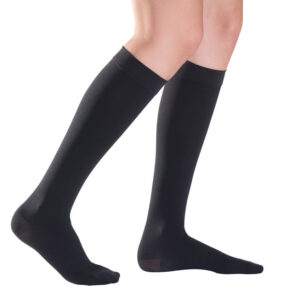 Κάλτσες διαβαθμισμένης συμπίεσης κάτω γόνατος μαύρη- duomed